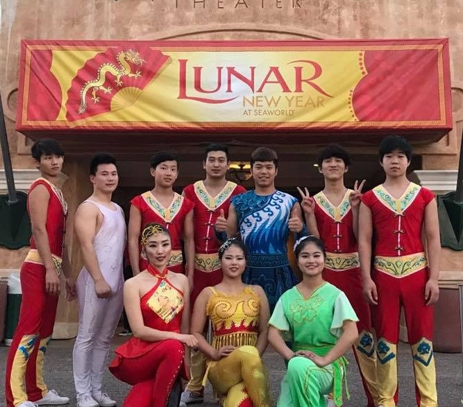 Cast from the Sea World Lunar New Year Celebration