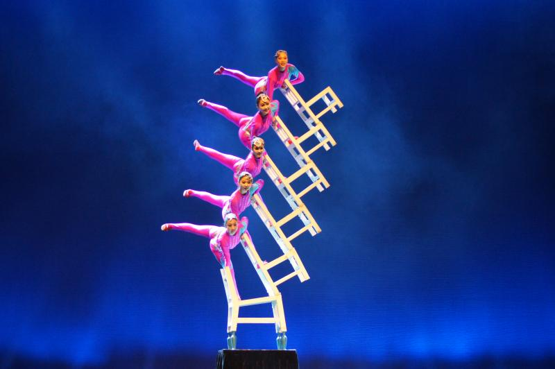 Female Chair Stacking